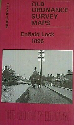 Old Ordnance Survey Maps Enfield Lock  Middlesex 1895 Godfrey Edition New