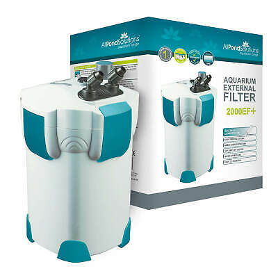 Aquarium Fish Tank External Filter - Optional 9w UV Steriliser + Media EF Models