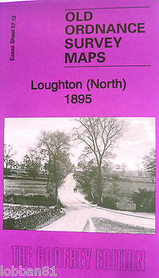 Old Ordnance Survey Maps Loughton North near Chingford Essex 1895 Godfrey Edit