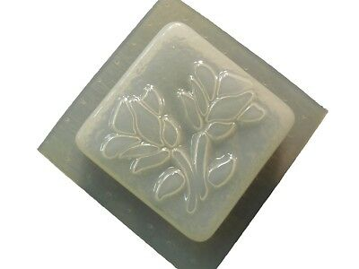 QTY 2 - DECORATIVE ROSE ROSES SQUARE SOAP MOLD 4575 Moldcreations