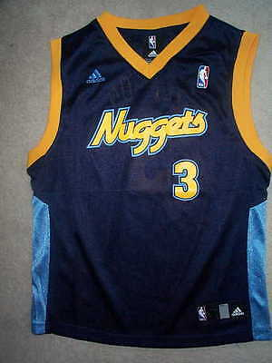 61657a8f ADIDAS Denver Nuggets ALLEN IVERSON nba THROWBACK Jersey YOUTH KIDS BOYS (4)