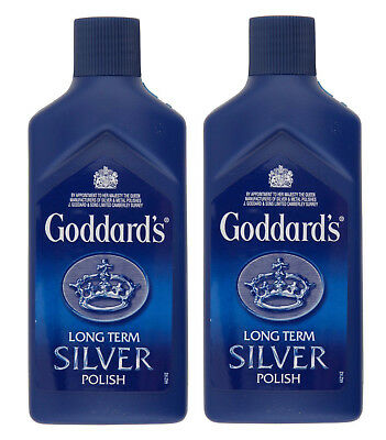 Pack of 2 x Goddards Long Term Silver Polish Cleaner 125ml Quick and Easy to Use