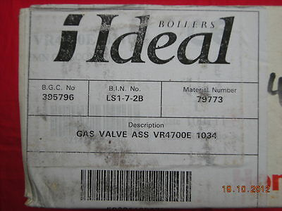 Ideal Compact Elan Turbo 2 Excel & W2000 Gas Valve 079773 Honeywell VR4700E 1034