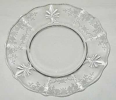 Fostoria Meadow Rose Baroque Pattern Salad Plate
