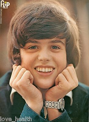 """DONNY OSMOND - THE OSMONDS  TEEN BOY ACTOR 11""""x8"""" MAGAZINE POSTER CLIPPING PINUP"""