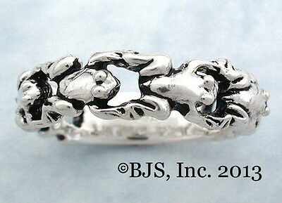 Leap Frog Ring, Frog Jewelry, Frogs, Your Size, Sterling Silver, New