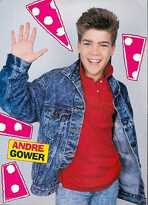 """ANDRE GOWER - TEEN BOY ACTOR - 11""""x8"""" MAGAZINE POSTER CLIPPING PINUP - VERY RARE"""