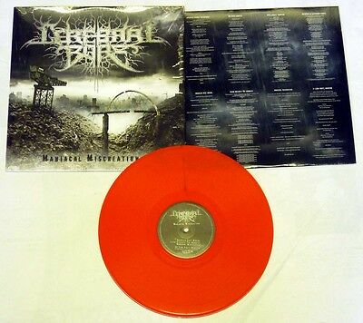 """Cerebral Bore """"Maniacal Miscreation"""" Ltd Edition Red Vinyl - NEW! 200 ONLY!"""