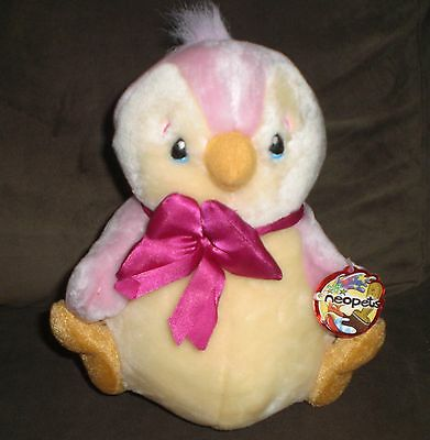 """1 Neopets 9"""" Pink Bruce Multicolor New With Tag"""