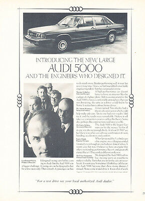 1978 Audi 5000 - engineers - Classic Vintage Advertisement Ad H31