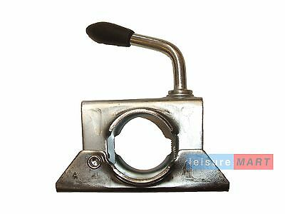 Trailer Jockey Wheel Split Clamp 34mm for Boat Bracket Stems, Prop Stands