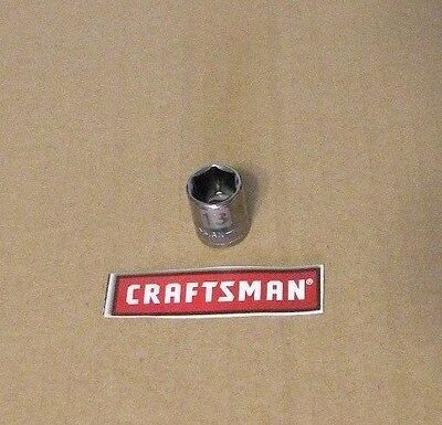 "NEW CRAFTSMAN 1/4"" Dr - METRIC  - Dual Laser Etched - 6 PT SOCKET - ANY SIZE..."
