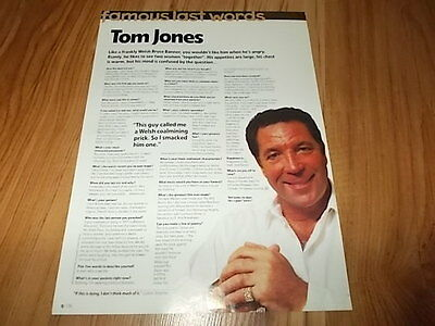 Tom Jones-1998 magazine article