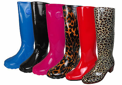 Womens Wellington Boots Printed Rain Snow Winter Boot Wellies Ladies Size UK 3-8