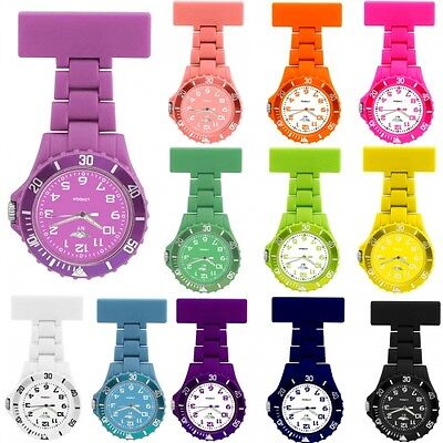 Prince London NY Coloured Rubberised Unisex Style Mens Ladies Nurses Fob Watches