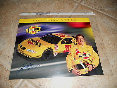 Johnny Benson Signed Autographed 8x10 Promo Nascar Car Racing Photo Picture #1