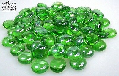 Green Coloured Glass Gems Stones Approx 80 Pcs Nuggets Home Deco Candles