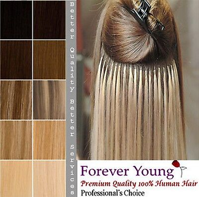 Pre Bonded U Nail Tip 100% Remy Human Hair Extensions 125 Strands of 75g Bonds