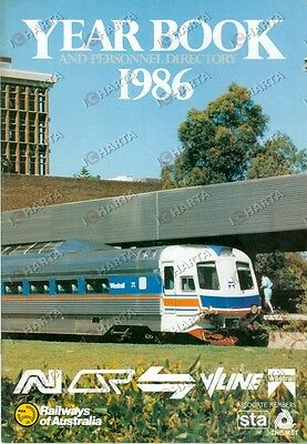 1986 RAILWAYS OF AUSTRALIA Year book and personnel directory *ILLUSTRATO