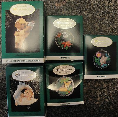 1994 Hallmark Keepsake Ornament Collector Club Set