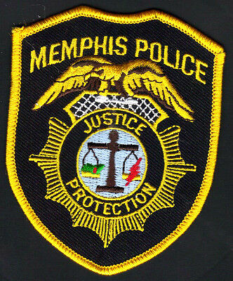 Memphis Tennessee Police Shoulder Patch  Version 2 Lighter yellow/gold