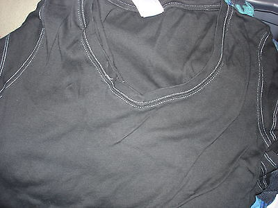 Blank Adult V Neck Black Tee Shirt With Greenish Or Pink Boarder Lot Of 13