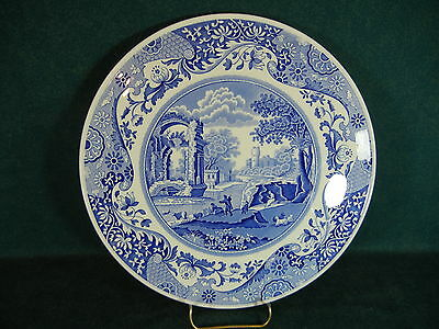 "Spode Blue Italian Footed 11 3/8"" Diameter Serving Cake Plate"
