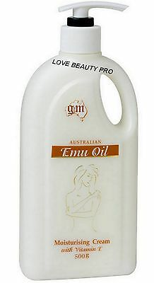 Aus Emu Oil Moisturiser 500g Pump - For dry skin