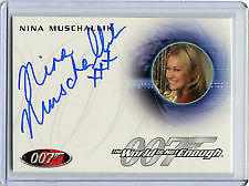 James Bond-50Th Anniversary Series 2 Auto Card A170 Muschallik/verushka