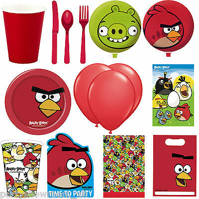 Angry Birds Happy Birthday Party Balloon Cups Plates Napkins In One Listing PS