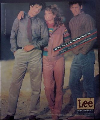 vintage 1985 fashion Ad Lee Antique cords Casual. Like you've never seen before