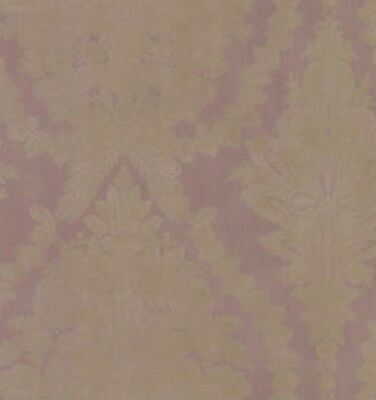 Wallpaper Large French Victorian Lavender Purple and Gold Raised Print Damask