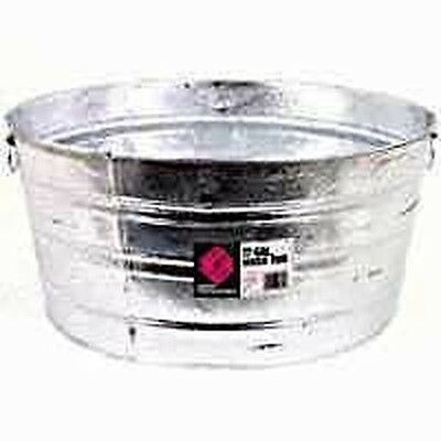 New Lot Of (3) Galvanized Round Wash Tubs 17 Gallon Size Usa Made 6931299