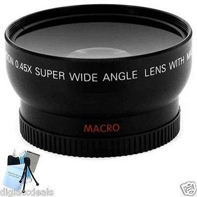Professional Wide Angle Lens with Adapter for Nikon Coolpix L120 Digital Camera