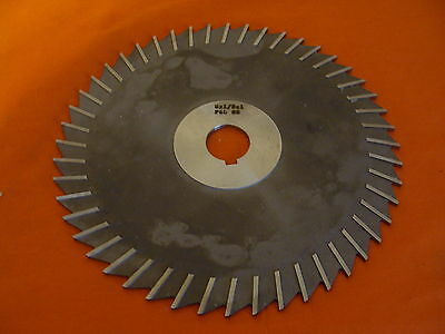 """Nos F&d Metal Slitting Saw W/side Chip Clearance 8"""" Diameter 8-1/8-1"""" Hs 14897"""