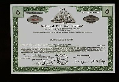 OIL GAS UTILITY NFG National Fuel Gas Company NY iss  Broker Salomon Brothers