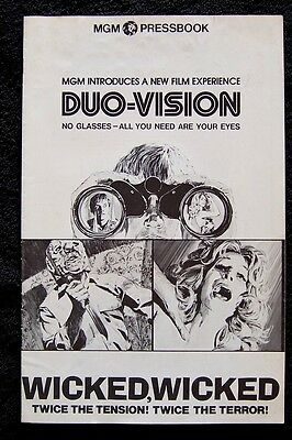 WICKED WICKED Tiffany Bolling DUO VISION Slasher Horror 1973 MOVIE PRESSBOOK