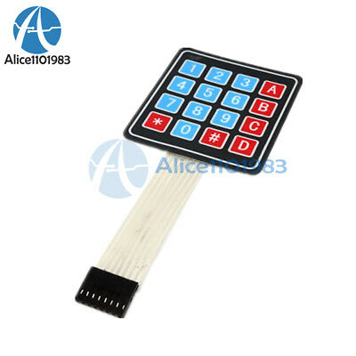 2PCS 4 x 4 Matrix Array 16 Key Membrane Switch Keypad Keyboard for Arduino AVR