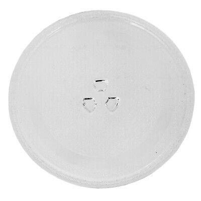 Microwave TURNTABLE PLATE 245mm 9.5 Inches Glass Clover Leaf - Dishwasher Safe