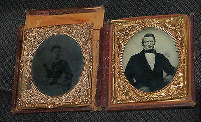 Vintage Photo Young Man And Woman Ambrotype