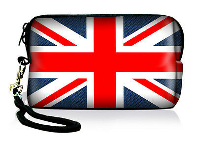 Union Jack Neoprene Case Bag Pouch For Digital Camera Cell Phone Itouch Iphone 5