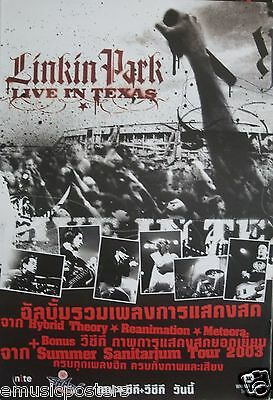 "LINKIN PARK ""LIVE IN TEXAS 2003"" THAILAND PROMO POSTER - Alternative Rap/Rock"