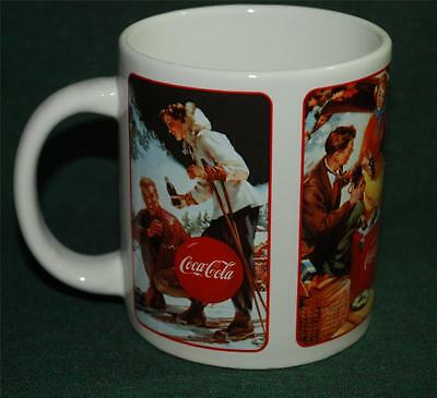COCA-COLA CERAMIC MUG - 4 Classic Advertising Scenes