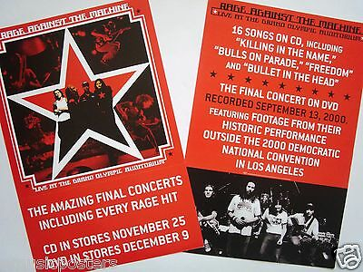"""Rage Against The Machine """"live At The Grand Olympic"""" 2-Sided U.s. Promo Poster"""