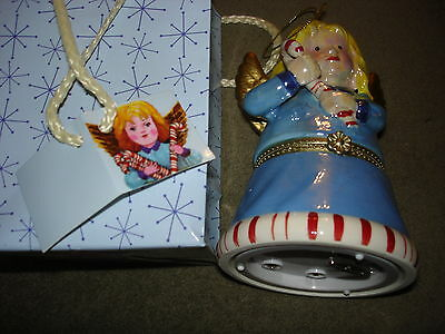 MR. CHRISTMAS MUSICAL ANGEL ORNAMENT HARK THE HEARLD GIFT IN A BAG