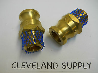 """Ever-Tite Fbr075 Brass Cam & Groove Couplings 3/4"""" Npt (Set Of 2)  New / No Box"""