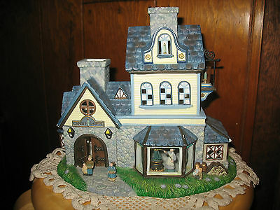 """Party Lite Old World Village #1 Candle Shoppe.  11""""L x 9.5""""H x 6""""W.  Slight Use."""