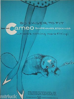 1960 Vintage Cameo Shapemaker Stockings Hosiery Animal Art Color Ad