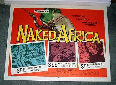 NAKED AFRICA original 1957 22x28 documentary movie poster AFRICAN NATIVES