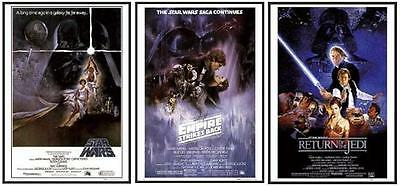 CLASSIC STAR WARS MOVIE POSTERS FRAMED (BLACK) WOOD FRAME (Size 24x36)